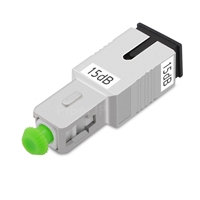 SC/APC シングルモード光固定減衰器(オス-メス、15dB)の画像