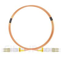 1m LC/UPC-LC/UPC デュプレックス マルチモード 光パッチケーブル(2.0mm PVC/OFNR OM1)の画像