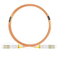 5m LC/UPC-LC/UPC デュプレックス マルチモード 光パッチケーブル(2.0mm PVC/OFNR OM1)の画像