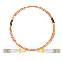 3m LC/UPC-LC/UPC デュプレックス マルチモード 光パッチケーブル(2.0mm PVC/OFNR OM1)の画像
