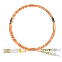 5m LC/UPC-ST/UPC デュプレックス マルチモード 光パッチケーブル(2.0mm LSZH OM2)の画像