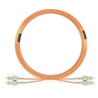15m SC/UPC-SC/UPC デュプレックス マルチモード 光パッチケーブル(3.0mm PVC/OFNR OM2)の画像