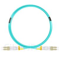 5m LC/UPC-LC/UPC デュプレックス マルチモード 光パッチケーブル(2.0mm PVC/OFNR OM3)の画像