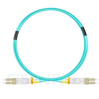 2m LC/UPC-LC/UPC デュプレックス マルチモード 光パッチケーブル(2.0mm PVC/OFNR OM3)の画像