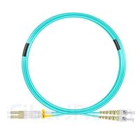 10m LC/UPC-ST/UPC デュプレックス マルチモード 光パッチケーブル(2.0mm PVC/OFNR OM3)の画像