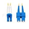 1m LC/UPC-SC/UPC デュプレックス シングルモード 光パッチケーブル(2.0mm PVC/OFNR OS2)の画像