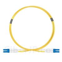 1m LC/UPC-LC/UPC デュプレックス シングルモード 光パッチケーブル(2.0mm OFNP OS2)の画像