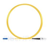 2m LC/UPC-ST/UPC シンプレックス シングルモード 光パッチケーブル(2.0mm PVC/OFNR OS2)の画像