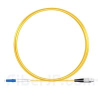 2m LC/UPC-FC/UPC シンプレックス シングルモード 光パッチケーブル(2.0mm PVC/OFNR OS2)の画像