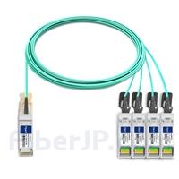 10m Brocade 100G-Q28-S28-AOC-1001対応互換 100G QSFP28/4x25G SFP28ブレイクアウトアクティブオプティカルケーブル(AOC)の画像
