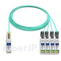 15m Cisco QSFP-4SFP25G-AOC15M対応互換 100G QSFP28/4x25G SFP28ブレイクアウトアクティブオプティカルケーブル(AOC)の画像