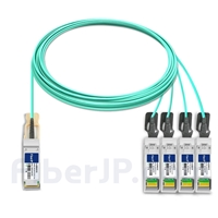 15m Extreme Networks対応互換 100G QSFP28/4x25G SFP28ブレイクアウトアクティブオプティカルケーブル(AOC)の画像
