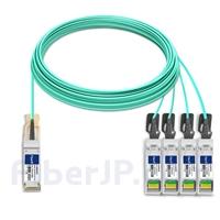 30m Extreme Networks対応互換 100G QSFP28/4x25G SFP28ブレイクアウトアクティブオプティカルケーブル(AOC)の画像