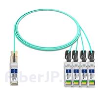 3m H3C QSFP28-4SFP28-AOC-3M対応互換 100G QSFP28/4x25G SFP28ブレイクアウトアクティブオプティカルケーブル(AOC)の画像