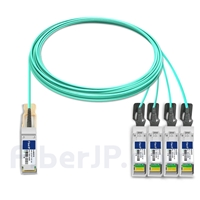 15m Extreme Networks 10GB-4-F15-QSFP対応互換 40G QSFP+/4x10G SFP+ブレイクアウトアクティブオプティカルケーブル(AOC)の画像