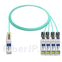 5m 汎用 対応互換 40G QSFP+/4x10G SFP+ブレイクアウトアクティブオプティカルケーブル(AOC)の画像