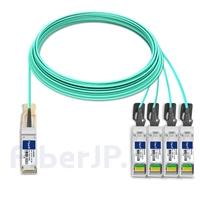 25m 汎用 対応互換 40G QSFP+/4x10G SFP+ブレイクアウトアクティブオプティカルケーブル(AOC)の画像