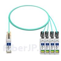 2m H3C QSFP-4X10G-D-AOC-2M対応互換 40G QSFP+/4x10G SFP+ブレイクアウトアクティブオプティカルケーブル(AOC)の画像