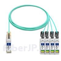 7m H3C QSFP-4X10G-D-AOC-7M対応互換 40G QSFP+/4x10G SFP+ブレイクアウトアクティブオプティカルケーブル(AOC)の画像