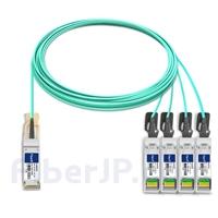 15m H3C QSFP-4X10G-D-AOC-15M対応互換 40G QSFP+/4x10G SFP+ブレイクアウトアクティブオプティカルケーブル(AOC)の画像