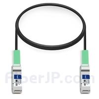 1m Dell (DE) Networking 331-8158対応互換 40G QSFP+パッシブダイレクトアタッチ銅製ケーブル(DAC)の画像