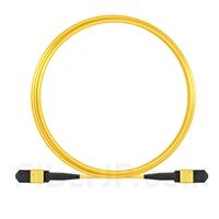 5m MPOメス 12芯 タイプB OS2 9/125 シングルモード トランクケーブル(エリート、LSZH、黄色)の画像