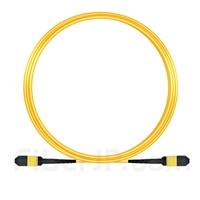 10m MPOメス 12芯 タイプB OS2 9/125 シングルモード トランクケーブル(エリート、LSZH、黄色)の画像