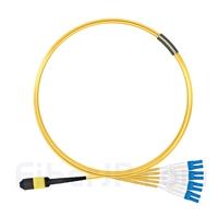 3m MPOメス-4 LC/UPC デュプレックス 8芯 タイプB OS2 9/125 シングルモード ブレイクアウトケーブル(エリート、LSZH、黄色)の画像
