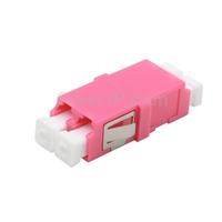 LC/UPC-LC/UPC 10G デュプレックス マルチモード SC型 プラスチック製光ファイバアダプター/嵌合スリーブ(OM4、フランジなし、すみれ色)の画像