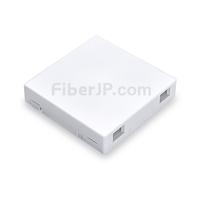 2ポート SC シンプレックスFTTH 光ファイバウォールプレートウトレット(SM/MM、アンロード)の画像