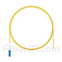 2m シンプレックス LC/UPC シングルモード 光ファイバピグテール(0.9mm PVCジャケット、9/125)の画像