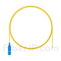 2m シンプレックス SC/UPC シングルモード ピッグテール光ファイバケーブル(0.9mm PVCジャケット、9/125)の画像