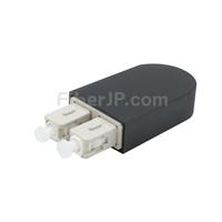 SC/UPC デュプレックス マルチモード 光ファイバループバックモジュール(PVC、OM4、50/125)の画像