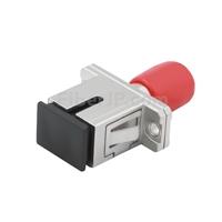 ST-SC ハイブリッド シンプレックス シングルモード 金属製光ファイバアダプター/嵌合スリーブ(メス-メス)の画像